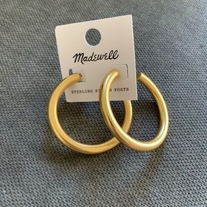 Madewell chunky oversized hoop earrings